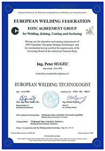 EWF certifikát