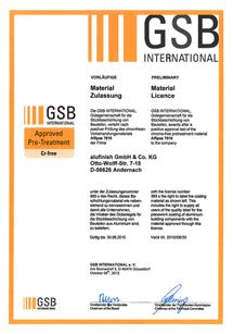 GSB certifikát