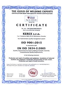 GWE certifikát