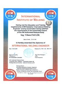 IIW certifikát