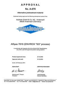 QUALICOAT certifikát