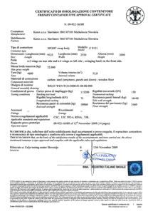 RINA certifikát