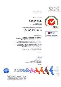 SGS certifikát
