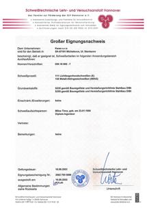 SLV certifikát