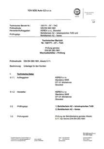 TUV certifikát